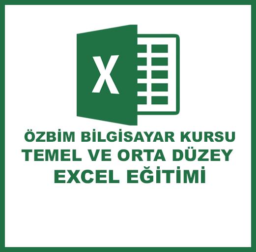 Excel Eğitimi (Temel-Orta)
